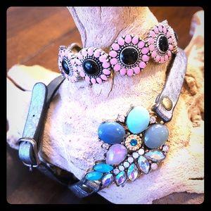 Anthropologie Leather Wrap Bracelet Bundle